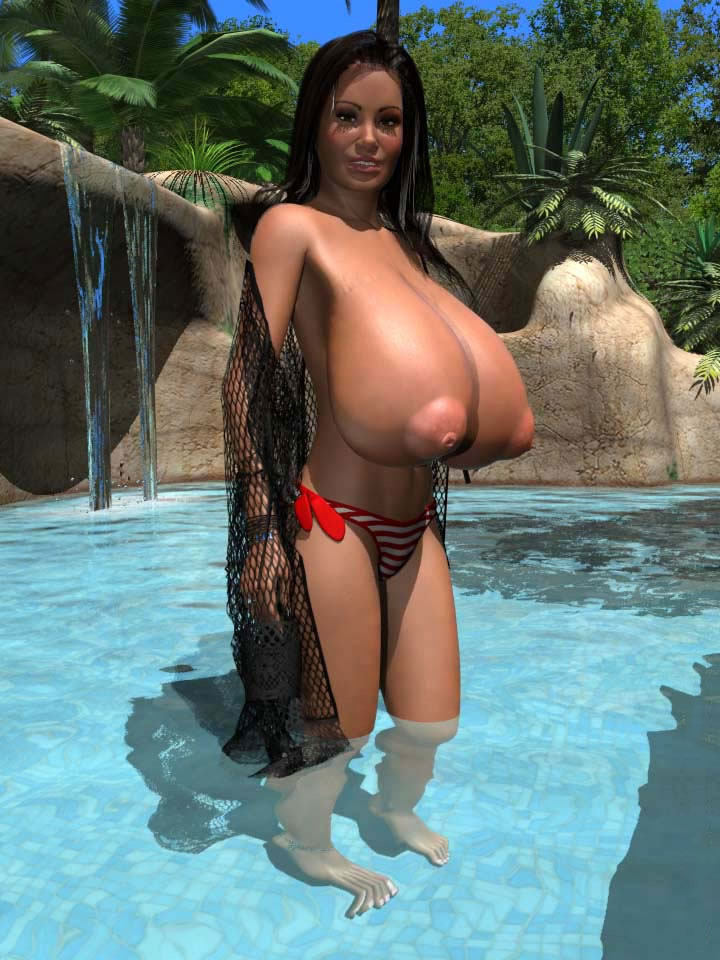 Busty Topless Girls Outdoors