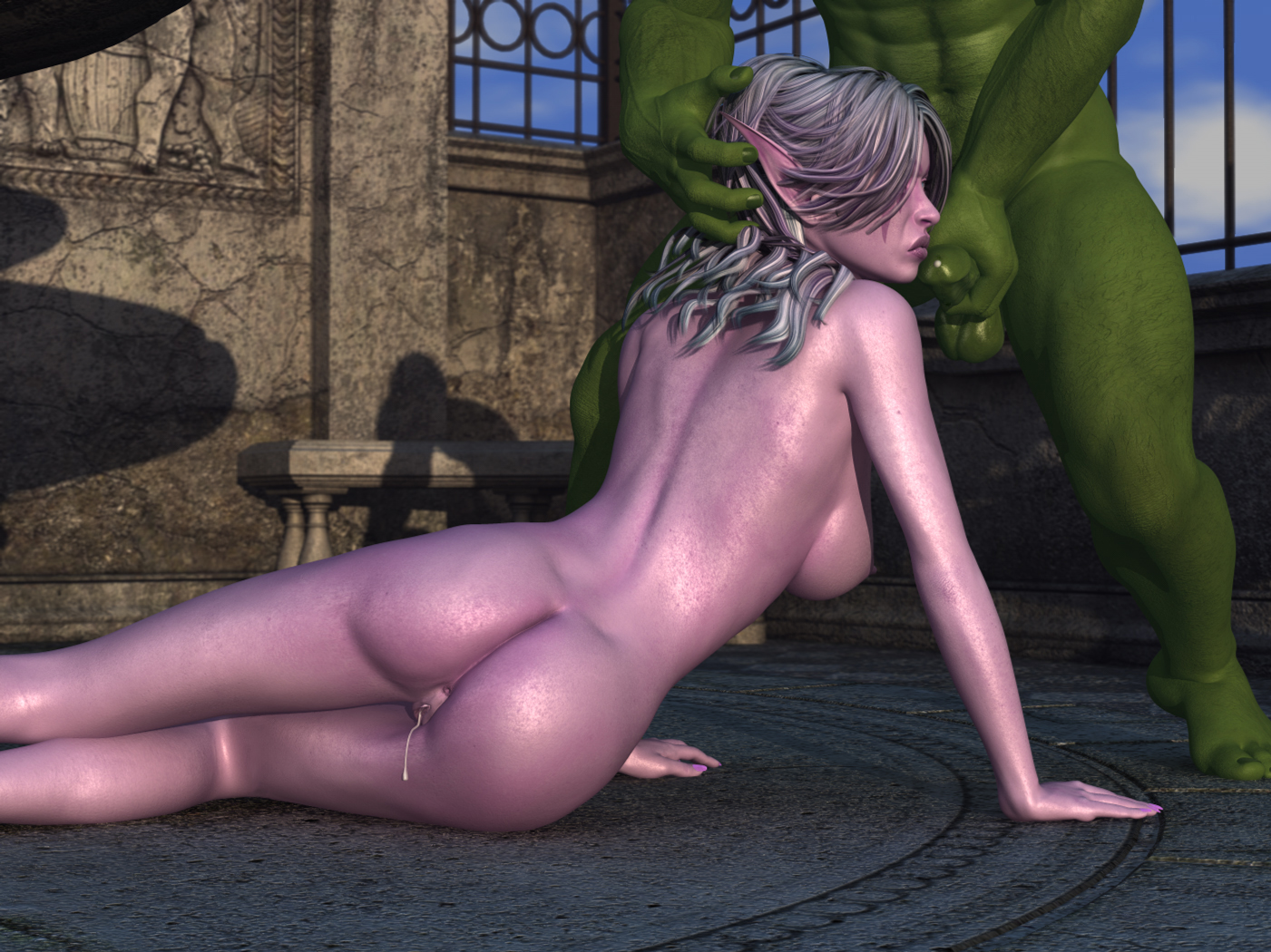 Elf girl masterbates sexy thumbs