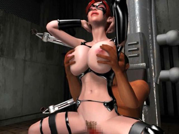 Big breasted 3D redhead getting restrained and fucked hard