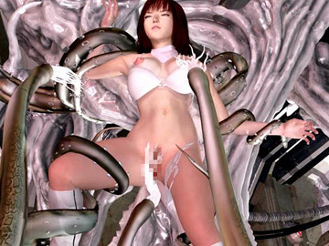 Palatable 3D cutie captured by slimy tentacle creatures