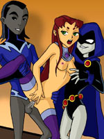 Teen Titans are relaxing after a hard day