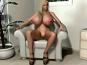 Super busty 3D blondie itching for a fuck with a black stud