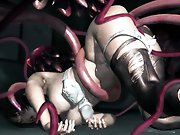 Massive tentacle fucking 3D hentai gallery