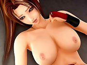 Bigtitted 3D hentai girl fighter having hardcore sex