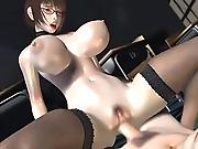 Adorable 3D hentai cutie getting an ultimate sex pleasure in front of your eyes