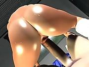 Horny 3D hentai sluts give tittyfuck and blow cock to take it up