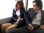 Chikan groping sex in bus